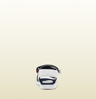 Gucci Toddler Leather Sandal With Signature Web Straps