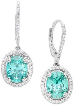 Arabella Mint (9 ct. t.w.) and White (5/8 ct. t.w.) Swarovski Zirconia Earrings in Sterling Silver