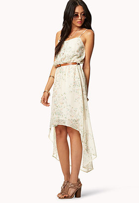 Forever 21 Abstract Safari High-Low Dress