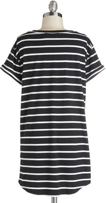 Simplicity on a Saturday Tunic in Black Stripes