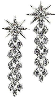 Belle Noel by Kim Kardashian Vintage Glamour Pave Chain Earrings with Stars