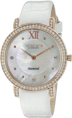 Johan Eric Women's JE7000-09-009.1 Ribe Analog Display Quartz White Watch