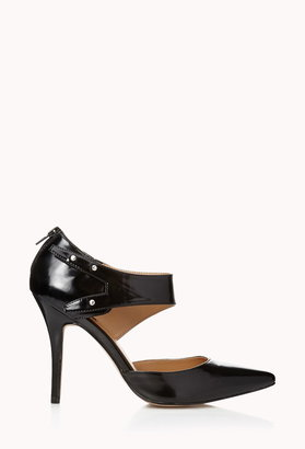 Forever 21 city-chic faux leather pumps