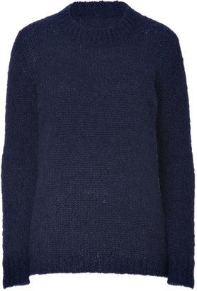 DKNY Cadet Blue Mohair Blend Pullover