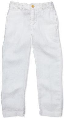 Ralph Lauren Suffield Linen Pants, White, 4-7