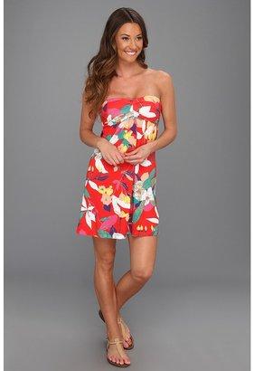Roxy Perfect Form Dress (Firey Red Print) - Apparel