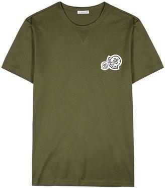 Moncler Army Green Cotton T-shirt