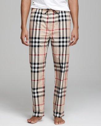 Burberry Woven Check Pajama Pants