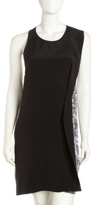 Phillip Lim 3.1 Solid-print Ruffle Sleeveless Dress
