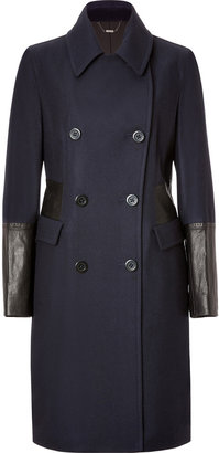 DKNY Wool Blend Coat in Midnight