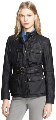 Women's Belstaff 'Roadmaster' Waxed Cotton Coat $850 thestylecure.com