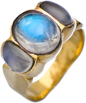 KiraKira Gold and Blue Moonstone Barcelona Ring