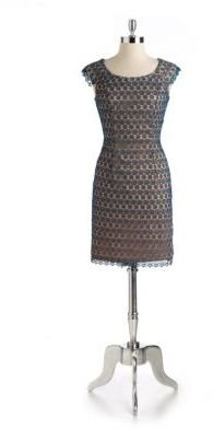 Adrianna Papell Lace Cutout Dress