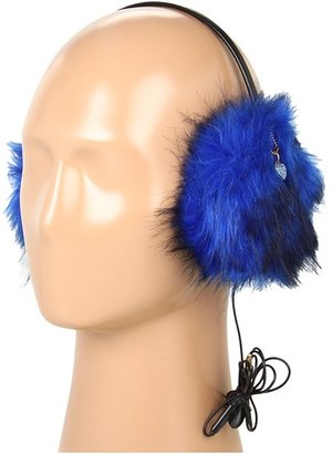 Juicy Couture Faux Fur Earmuff Headphone (Bright Lapis) - Accessories
