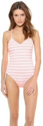 Shoshanna Seven Lakes Stripe One Piece Swimsuit
