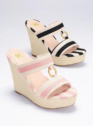 Victoria's Secret Collection O-ring Espadrille Slide Sandal