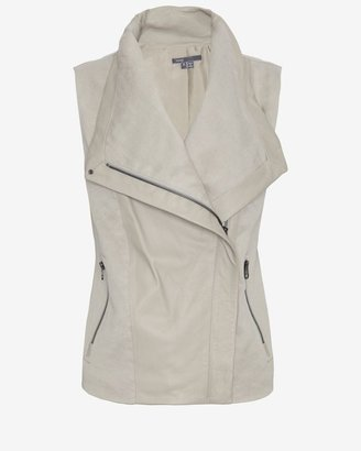 Vince Mixed Media Vest: Khaki