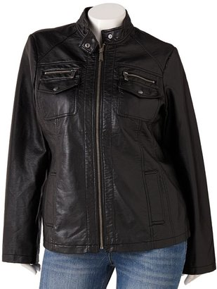Apt. 9 faux-leather jacket - women's plus