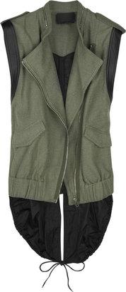 Alexander Wang Contrast back cotton-canvas vest