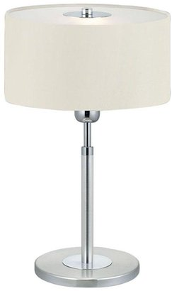 Halva Eglo 19 in. 1-Light Brushed Aluminum and Chrome Table Lamp