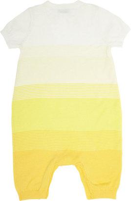 Bonnie Baby Short-Sleeve Ombré-Effect Romper