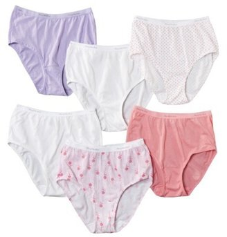 Fruit of the Loom Women's 6 pk Cotton Wardrobe Briefs - Assorted Colors/Patterns