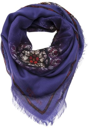 Alexander McQueen stained glass print scarf