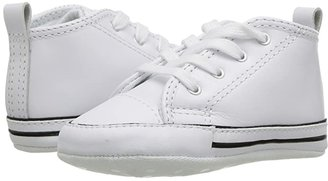 Converse Chuck Taylor(r) First Star Core Crib (Infant/Toddler) (White Leather) Kids Shoes