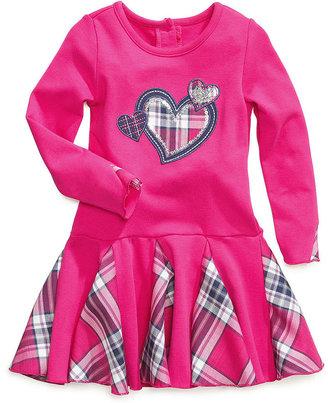 Nannette Girls Dress, Little Girls Plaid Tutu Dress