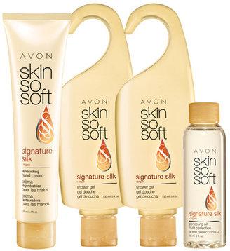 Avon SKIN SO SOFT Signature Silk 4-Piece Body Collection