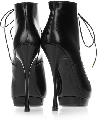 Alexander McQueen Lace-up leather ankle boots