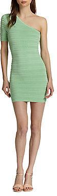 Torn By Ronny Kobo Kat One-Shoulder Mini Dress