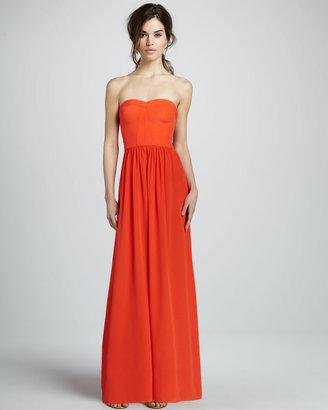 Rebecca Taylor Silk Strapless Corset Gown