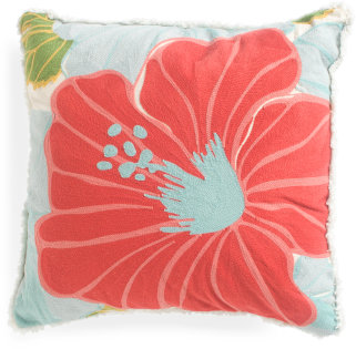 20x20 Stella Floral Chainstich Pillow