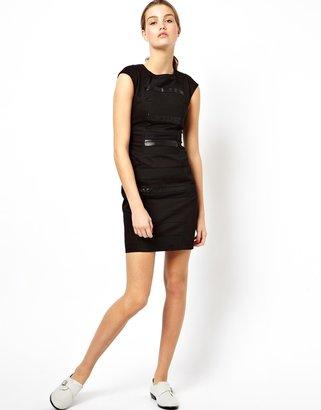 Asos X RAYAN ODYLL Panelled Dress By Rayan Odyll