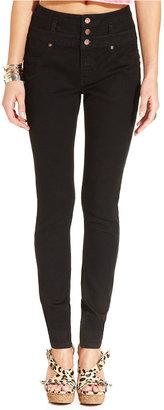 Tinseltown Juniors Jeans, Skinny High-Waist Black Wash