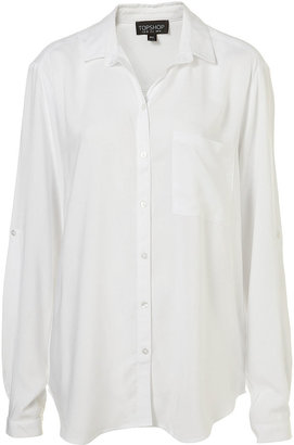 Topshop White Long Sleeve Button Down Shirt