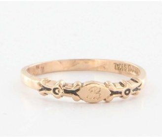 575 Denim very good (VG) 14k Rose Gold Letter B Initial Stack Ring Band Sz 5 3/4