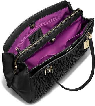 Kimberly Coach Madison Carryall In Gathered Twist Leather