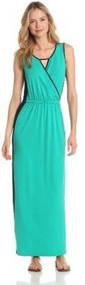 Lilla P Women's Color Block Maxi Dress