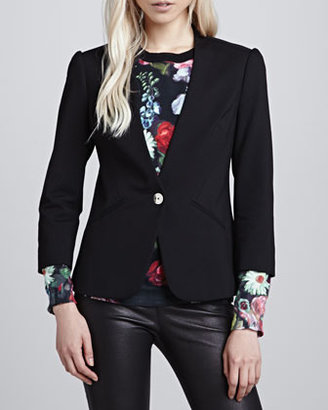 Ted Baker Adale Collarless Single-Button Blazer
