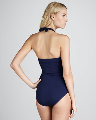 Tommy Bahama Ruched Underwire One-Piece Swimsuit