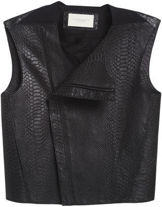 BCBGMAXAZRIA Runway Finn Leather Vest