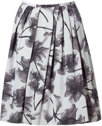 Jason Wu Black/White Floral Skirt