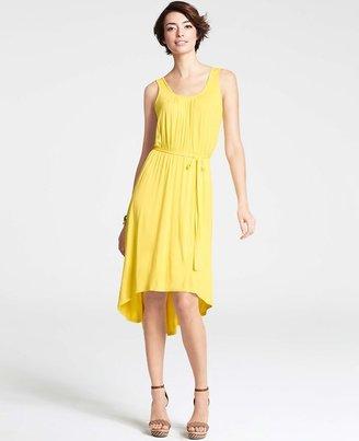 Ann Taylor Tall Tie Waist High-Low Knit Dress