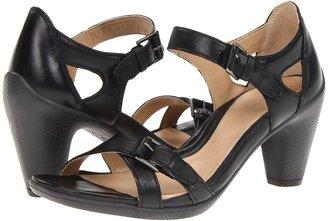 Ecco Sculptured 65 Sandal 2 (Black Feather) - Footwear