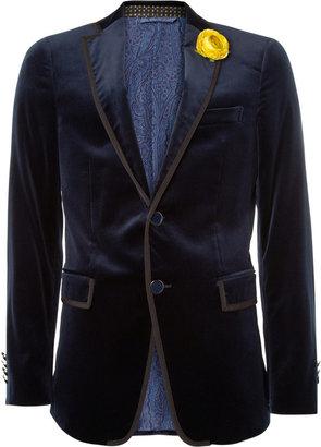 Etro Grosgrain-Trimmed Velvet Tuxedo Jacket