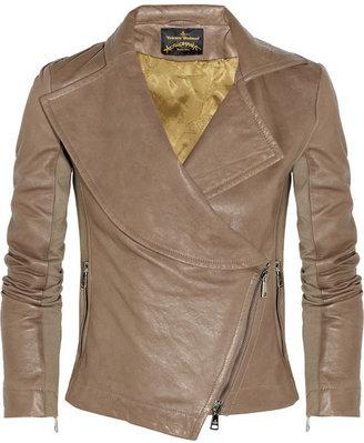 Vivienne Westwood Chevalier asymmetric leather jacket
