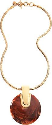 Lanvin Abstract Deco Circular Pendant Necklace