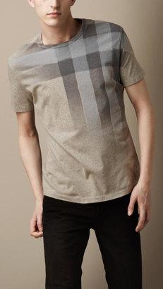 Burberry Check Print T-Shirt
